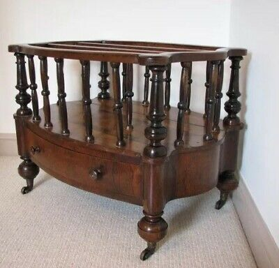 Antique Rosewood Canterbury/magazine rack with drawer.