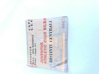 Calcio, biglietto ticket  JUVENTUS - ATHLETIC BILBAO 4/5/1977, finale uefa cup