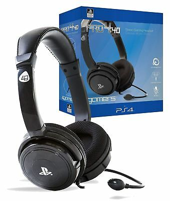 Official Licensed Sony PS4 PRO4-40 Wired Stereo Gaming Headset Headphones & Mic