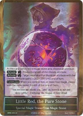 Little Red Super Rare FOW Force of Will the Pure Stone - MPR-098 Green