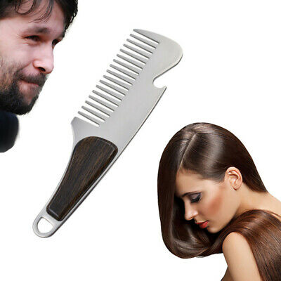 Practical Beard Comb Mens Shaving Pocket Comb Portable Male Steel Mustache IRV