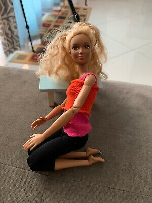 Barbie Made to Move Doll, Orange Top  Doll Beautiful Face Tanned Barbie