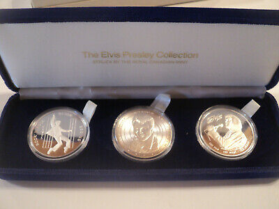 Royal Canadian Mint The Elvis Presley Collection silver coin set