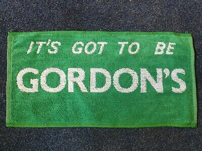 Vintage New Old Stock 'It's Got To Be Gordons' Gin Bar Towel