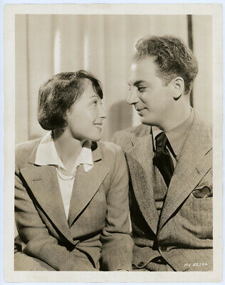 Hollywood Newlyweds Luise Rainer Clifford Odets 1937 Vintage Portrait Photograph