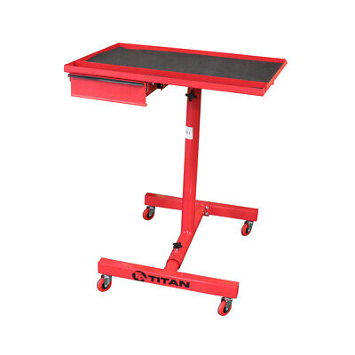 Adjustable Rolling Work Table With Tool Drawer For Shops Garages and Warehouses