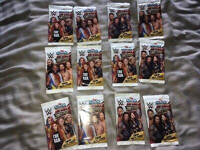 WWE Slam Attax Universe Trading Cards 2019 - 12 X NEW SEALED Packs 2019