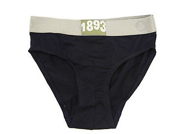 PETIT BATEAU Boy's Briefs Navy Blue Smooth 1893 Elastic Waist 10 yrs NEW $15
