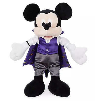 Disney Parks Happy Halloween Mickey Mouse Vampire Plush New with Tags