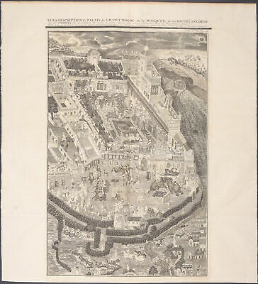 Chatelain - Mughal Empire; Palace. 114  - 1718 Atlas Historique Engraving
