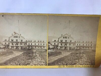 WAUMBEC HOUSE STEREOVIEW~Card~Stereoscopic~Jefferson New Hampshire/England