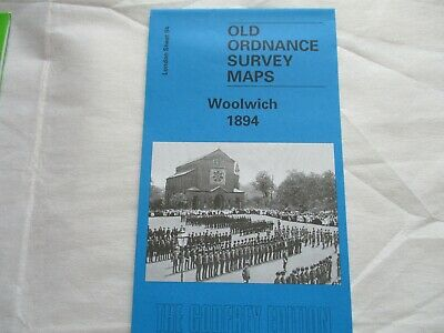 old ordnance survey map (reprint)  -  Woolwich 1894