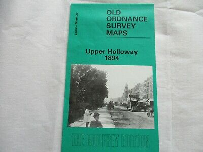old ordnance survey map (reprint)  -  Upper Holloway 1894