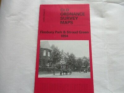 Old Ordnance Survey Map (reprint) - Finsbury Park & Stroud Green 1894