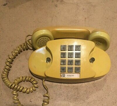 WESTERN ELECTRIC YELLOW Model 2702B Princess Telephone AT&T