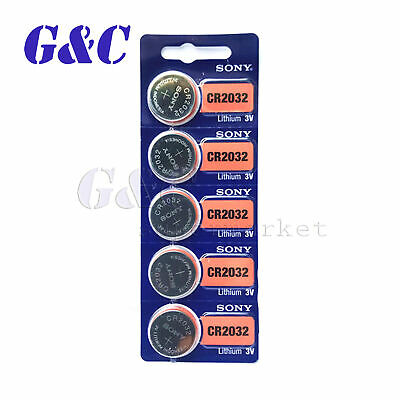 5PCS/10PCS Sony CR2032 CR 2032 3V Coin Cell Button Battery for watch Genuine