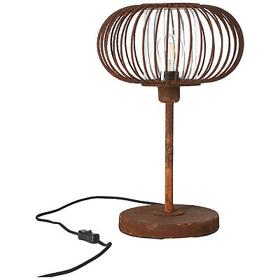 Table Industrial Lamp Light Vintage Retro Loft Factory Race Rust-Colored New