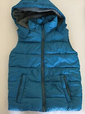 Unisex Puffer Fleece Lined Vest Aqua Kids Size 12 Perfect For Layering Like New