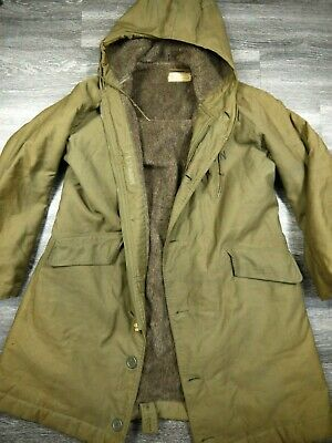 VINTAGE 40s WW2 USN N1 DECK PARKA HOODED ALPACA JACKET 44 USN WWII US NAVY