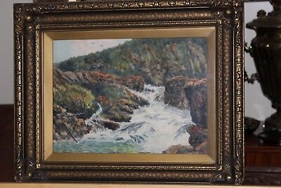 Antique Watercolor Painting Canadian Listed Artist William J.wood Group Of Seven