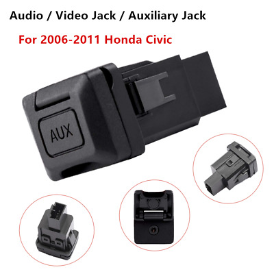 1*3.5mm Aux Audio Interface Port Fit For Honda Civic 2006-2011 OE #: 39112SNAA01