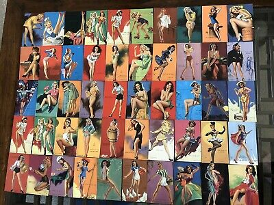 Lot of 50 Mutoscope Cards Pinup Cheesecake Arcade Vintage 1940's Moran Mozert 4