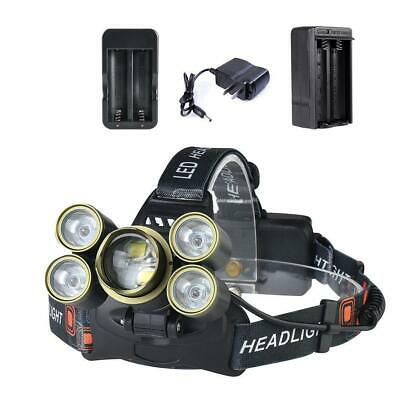 Zoomable 35000 LM Military Head Lamp -T6 + XPE LED Headlamp Flashlight BR