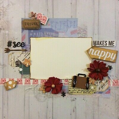 handmade scrapbook page 12 X 12 Travel Themed Layout