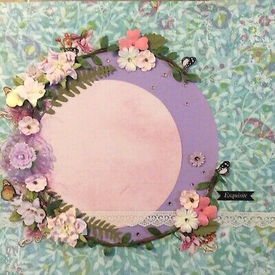 handmade scrapbook page 12 X 12 Pretty In Pink Themed Layout