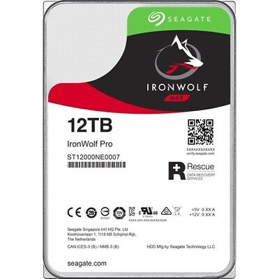 Seagate IronWolf Pro ST12000NE0007 12 TB Hard Drive - 3.5  Internal - SATA (SATA