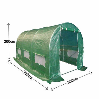 3 X 3M Fully Galvanised Steel Frame Polytunnel Greenhouse Pollytunnel Tunnel