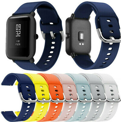 20mm Silicone Soft Watch Band for Xiaomi Huami Amazfit Bip Watch Wrist Strap NEW