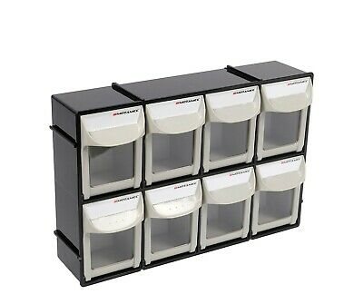 Motamec Modular Tilt Bin System Parts Storage Wall Compartment Bins - Small 4x2
