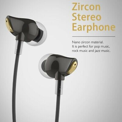 Rock Earphones Zircon Nano Stereo Headphone InEar Metal Earbuds Micro 3.5mm Bass