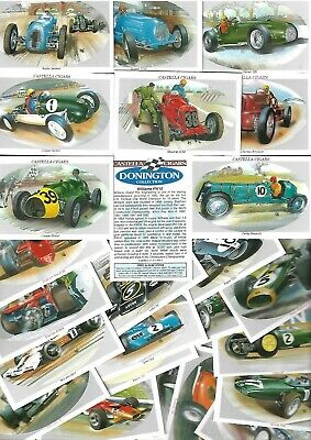 Full Set 30 Castella Donnington Collection Racing Cars  Excell Cigarette Cards