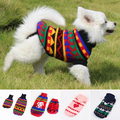 Knitwear New Jacket Knitted Small Puppy Warm Xmas Jumper Sweater Winter Dog Pet