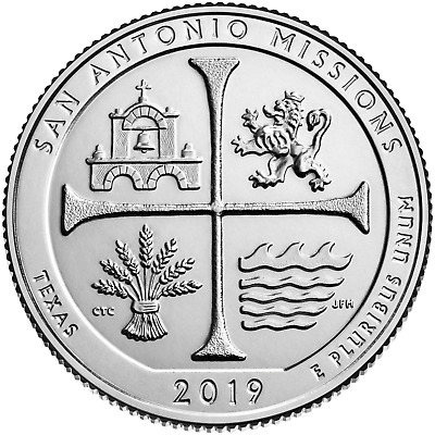 2019 P D San Antonio Missions National History Texas Park Quarter PD Pre-sale