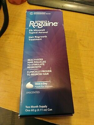 Women's Hair Regrowth Rogaine 5% Minoxidil Foam for thin/lost hair Topical Treat