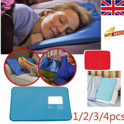 4pcs Cooling Insert Pad Mat Aid Sleeping Therapy Relax Chillow Ice Pillow UK HOT