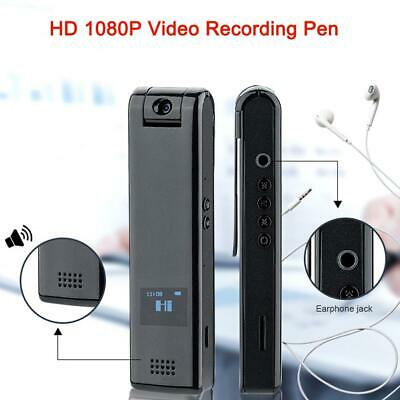 1080P Mini Voice Recorder with HD Camera Video Camcorder 10 Hours Recording B8D9