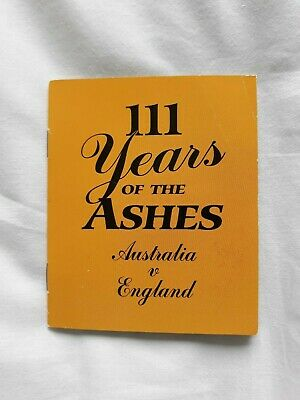 Australia V England 111 Years Of The Ashes Cricket Commemorative Coin & Booklet