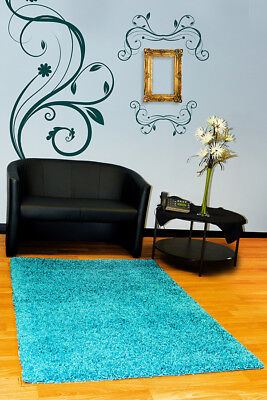 New Soft Plain Shaggy Mats Washable Large Small Bedroom Rugs Runners Uk