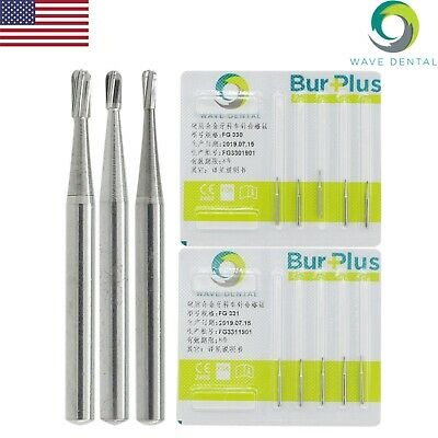 Wave Dental Tungsten Carbide Burs Crown Removal 1.6mm Pear FG 330 331 332 Prima