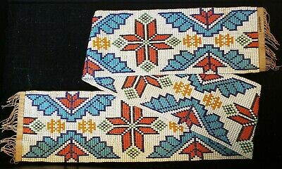 "Antique Plains Indian Beaded Sash - 27"" By 3"""