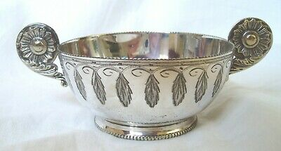 Vintage Mappin & Webb Two Handled Leaf/Flower Design Sugar Bowl - Silver Plate?