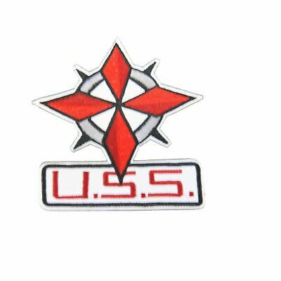 "Resident Evil Umbrella Corporation USS Star and Name 4"" Tall Embroidered Patch"