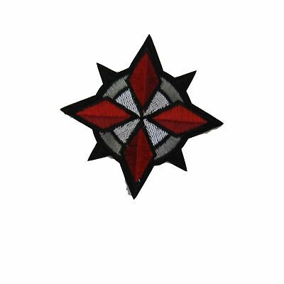 "Resident Evil Umbrella Corporation USS Star Logo 3"" Tall Embroidered Patch"