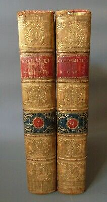 History of Rome Dr Goldsmith Set of Two Leather Volumes
