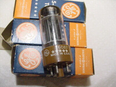 NOS NIB GE 5* 6087 5Y3WGT Dual HV Rectifier Vacuum Tube Tested TV-10B 8 Pin Octa