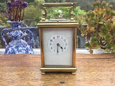 Antique French Repeat Carriage Clock Lever Escapement 8 Day Repeater For Repair